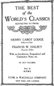 The Best Of The World's Classics (Restricted To Prose) Volume II - Rome: 234 B.C.-180 A.D. (Mobi Classics)
