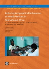 Reducing Geographical Imbalances of Health Workers in Sub-Saharan Africa: A Labor Market Prospective on What Works What Does Not and Why