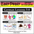German Lessons 5-8: Toys/Games, Months/Days/Seasons, Parts of the Body, Clothes