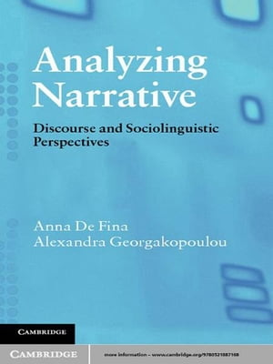 Analyzing Narrative Discourse and Sociolinguistic Perspectives