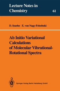 Ab Initio Variational Calculations of Molecular Vibrational-Rotational Spectra