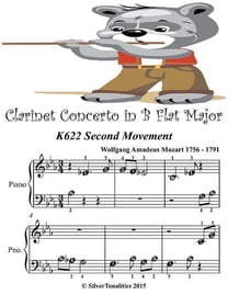 Clarinet Concerto In B Flat Major K622 Second Movement - Beginner Tots Piano Sheet Music