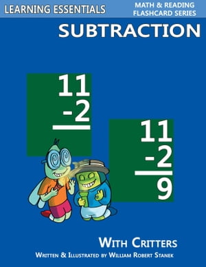 Subtraction Flashcards: Subtraction Facts with Critters