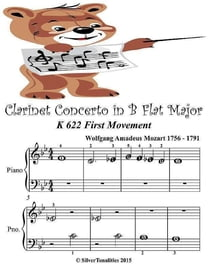 Clarinet Concerto In B Flat Major K622 First Movement - Beginner Tots Piano Sheet Music