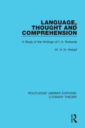 Language, Thought and Comprehension