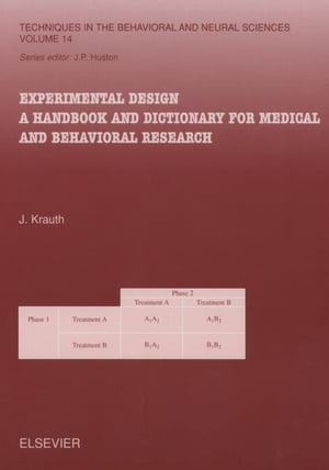 Experimental Design A Handbook and Dictionary for Medical and Behavioral Research