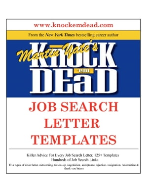 Knock Em Dead Job Search Letter Templates