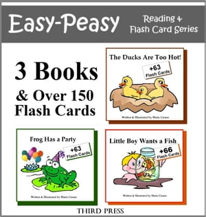 Collection 2 - 3 Easy Readers that are over 90% Sight Words! (The Ducks are Too Hot,  Frog Has a Party & Little Boy Wants a Fish) A Sight Word Book for