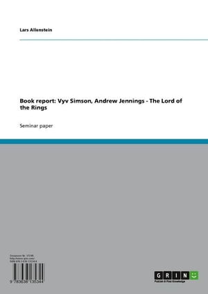 Book report: Vyv Simson, Andrew Jennings - The Lords of the Rings: The Lord of the Rings