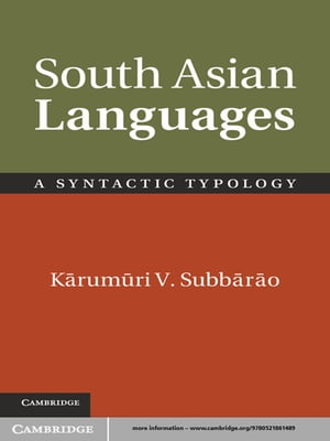 South Asian Languages A Syntactic Typology