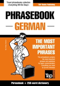 English-German phrasebook and 250-word mini dictionary