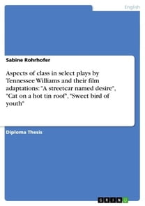 Aspects of class in select plays by Tennessee Williams and their film adaptations: 'A streetcar named desire', 'Cat on a hot tin roof', 'Sweet bird of youth'
