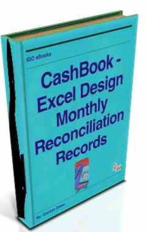 CashBook - Excel Design Monthly Reconciliation Records