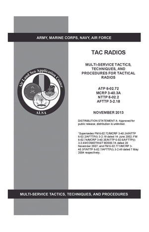 Army Techniques Publication ATP 6-02.72 TAC Radios Multi-Service Tactics,  Techniques,  and Procedures for Tactical Radios ATP 6-02.72,  MCRP 3-40.3A,  NT
