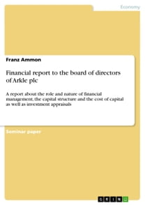 Financial report to the board of directors of Arkle plc
