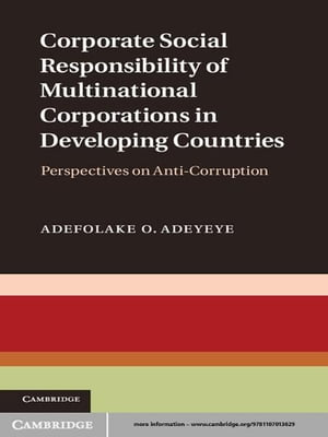 Corporate Social Responsibility of Multinational Corporations in Developing Countries Perspectives on Anti-Corruption