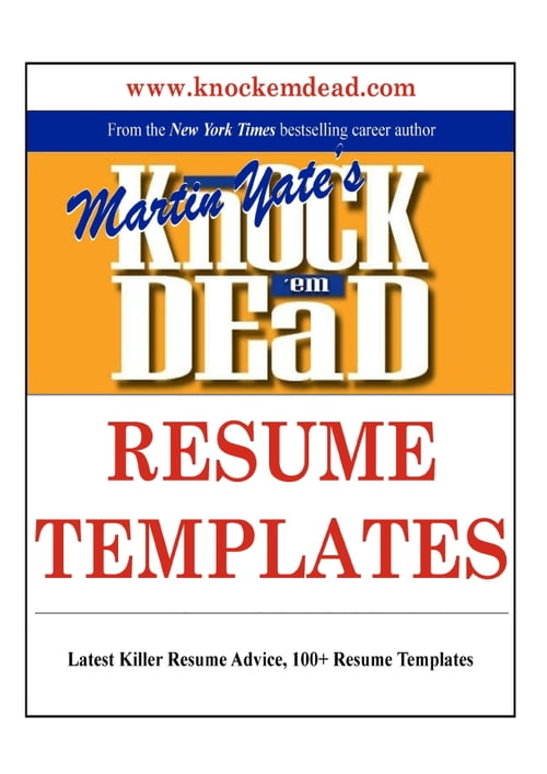 knock em dead resume templates d r k 252 lt 252 r sanat ve