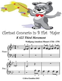 Clarinet Concerto In B Flat Major K622 Third Movement - Beginner Tots Piano Sheet Music