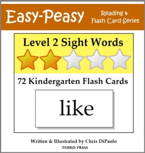Level 2 Sight Words: 72 Kindergarten Flash Cards