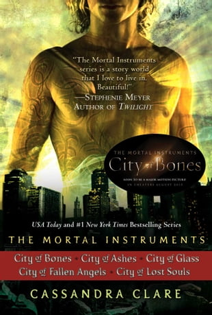 Cassandra Clare: The Mortal Instruments Series (5 books): City of Bones; City of Ashes; City of Glass; City of Fallen Angels, City of Lost Souls