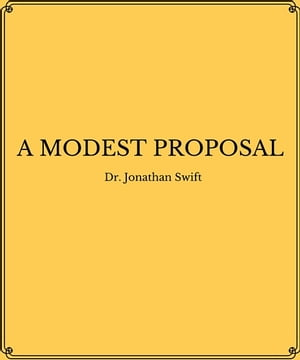 techniques used modest proposal jonathan swift