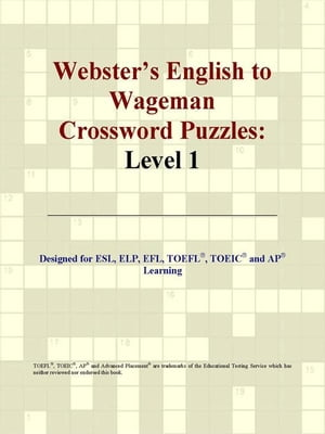 Webster's English to Wageman Crossword Puzzles: Level 1