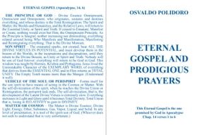 EVERLASTING GOSPEL AND PRODIGIOUS PRAYERS