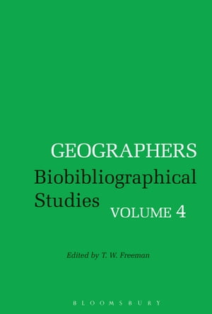 Geographers Biobibliographical Studies,  Volume 4