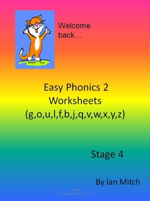 Easy Phonics 2 Worksheets (g, o, u, l, f, b, j, q, v, w, x, y, z)