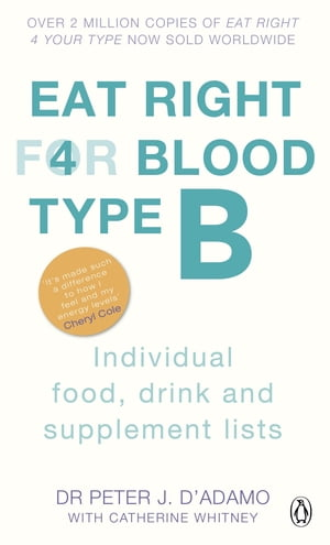 Eat Right For Blood Type B Individual Food, Drink and Supplement lists