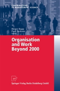 Organisation and Work Beyond 2000