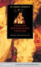 The Cambridge Companion to English Restoration Theatre Cover Image