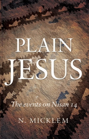Plain Jesus The Events on Nisan 14