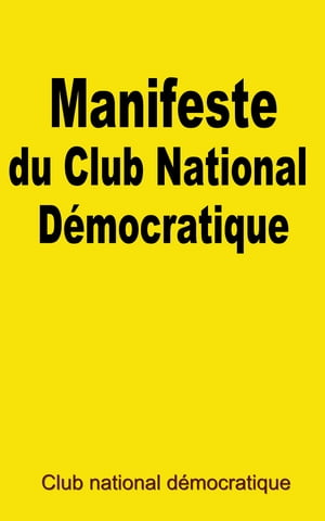 Manifeste du Club national démocratique