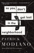 So You Don't Get Lost in the Neighborhood Cover Image