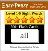 Levels 1-5 Sight Words: 300+ Flash Cards (5 Books In One)