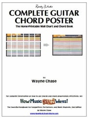 Roedy Black's Complete Guitar Chord Poster: The Home-Printable Wall Chart and Chord Book