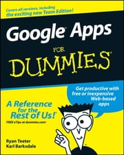 Google Apps For Dummies ebook by Ryan Teeter,Karl Barksdale