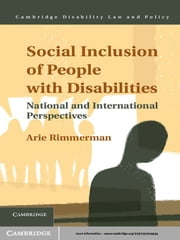 Social Inclusion of People with Disabilities - National and International Perspectives ebook by Arie Rimmerman