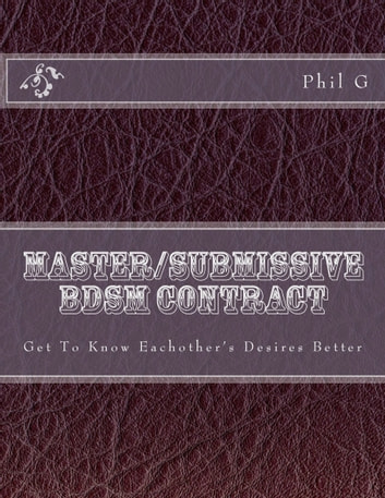 Was and bdsm master contract useful idea