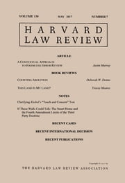 Harvard Law Review: Volume 130, Number 7 - May 2017 ebook by Harvard Law Review