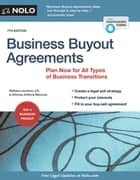 Business Buyout Agreements - Plan Now for All Types of Business Transitions ebook by Anthony Mancuso, Attorney, Bethany K. Laurence,...