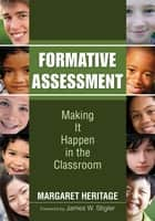 Formative Assessment ebook by H. Margaret Heritage