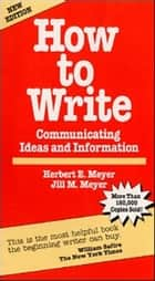How to Write ebook by Herbert E. Meyer,Jill M. Meyer