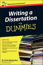 Writing a Dissertation For Dummies ebook by Carrie Winstanley