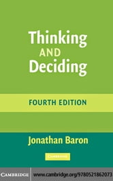 Thinking and Deciding ebook by Baron, Jonathan