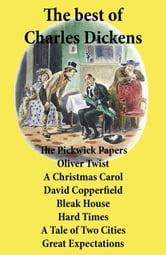 book cover the best of charles dickens the pickwick papers oliver twist a christmas carol
