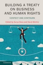 Building a Treaty on Business and Human Rights - Context and Contours ebook by Surya Deva, David Bilchitz