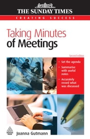 Taking Minutes of Meetings ebook by Gutmann, Joanna