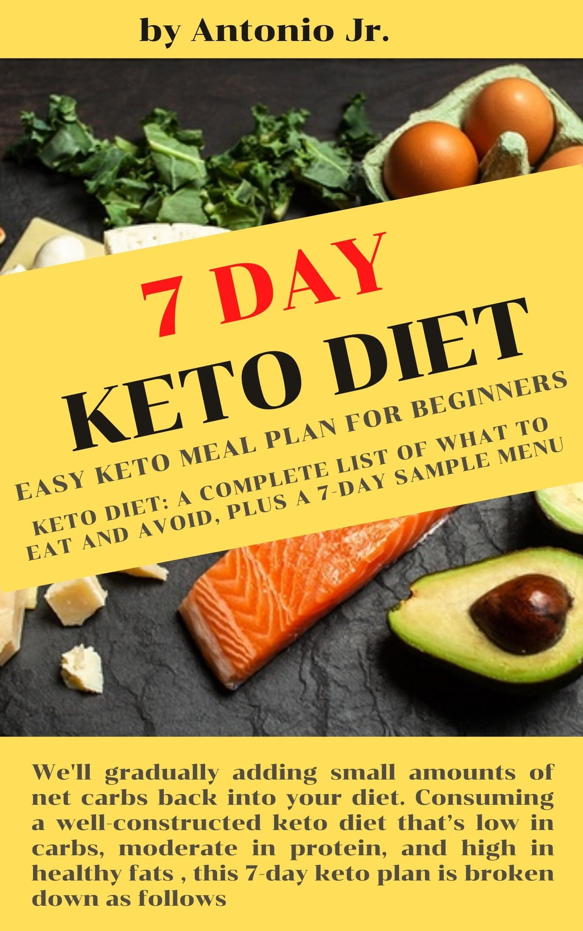 7 Day Keto Diet Easy Keto Meal Plan For Beginners Ebook By Antonio Jr 1230004004059 Rakuten Kobo United States
